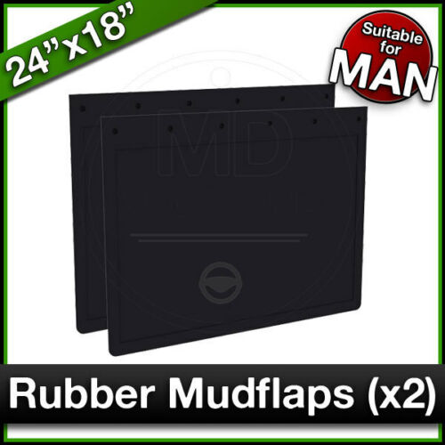 "Truck Lorry RUBBER MUDFLAPS Mud Flap Guard PAIR 610 x 460mm MAN 24/"" x 18/"""