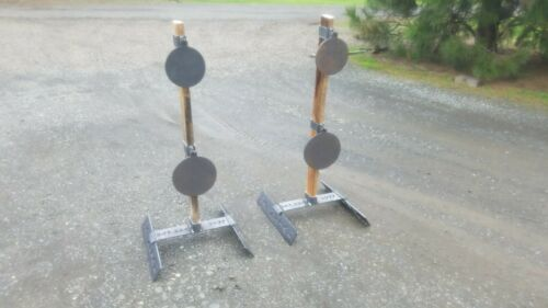 1-8 in GONGS Pliant Gong Target Stand W//2 Nouveau Réglable Cintres /& 1-6