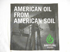 Vtg Brietling Oil Drilling AMERICAN OIL FROM AMERICAN SOIL T Shirt XL Deadstock