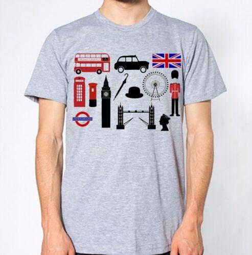 London New T-Shirt UK British Great Britain Top England Tee United Kingdom LDN