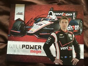 Will Power 2019 Indy Car Indianapolis 500 Promo hero Card Autographed