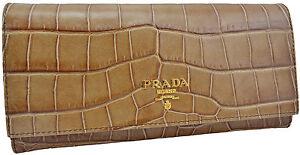 750-marron-PRADA-croco-en-cuir-ST-COCCO-Clutch-Wallet-de-credit-edition-limitee