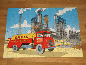 SHELL-JIGSAW-PUZZLE-1950s-PROMO-SHELL-HAARD-OLIE-AMSTERDAM-HTF