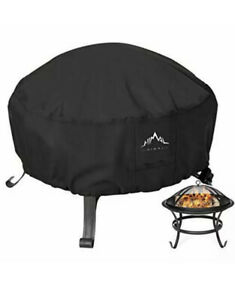 Himal Outdoors Fire Pit Cover- Heavy Duty Waterproof 600D Polyster with Thick PV