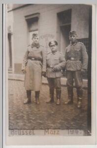 F20181-Orig-Foto-deutsche-Soldaten-auf-Strasse-in-Bruessel-1941-gt-Zugstreife-lt