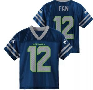 New NFL Kids//Youth Seattle Seahawks Fan #12 Jersey