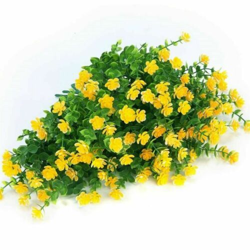 Artificial Plants Fake Flowers In//Outdoor For Garden Porch Window Box Plants UK