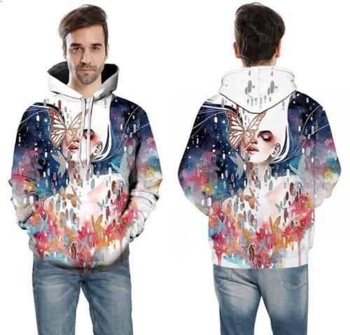 Unisex 3D Drucken Sweatshirt Liebhaber Pullover Hoodies Kapuzenpullover Jacke 3D