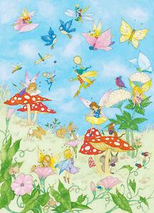 Details zu Fototapete Kinderzimmer Feen Märchen Wandbild Kinder Mädchen 183  x 254 cm