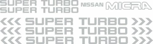 Nissan Micra Super Turbo K10 Replacement Decals oem design any colour