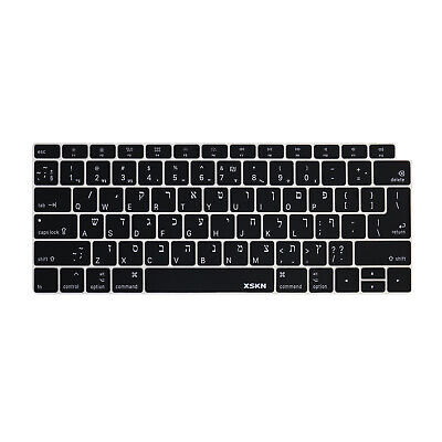 Silicone Keyboard Cover for New MacBook Air 13 A1932 Retina Display /& Touch ID EU Enter English Alphabet