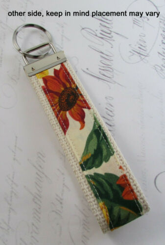 Sunflower Key Fob 2 Gift Idea Keychain You Can Locate Easily Wristlet Style