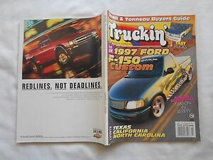 TRUCKIN-MAGAZINE-MARCH-1996-FIRST-LOOK-1997-FORD-F-150-CUSTOM