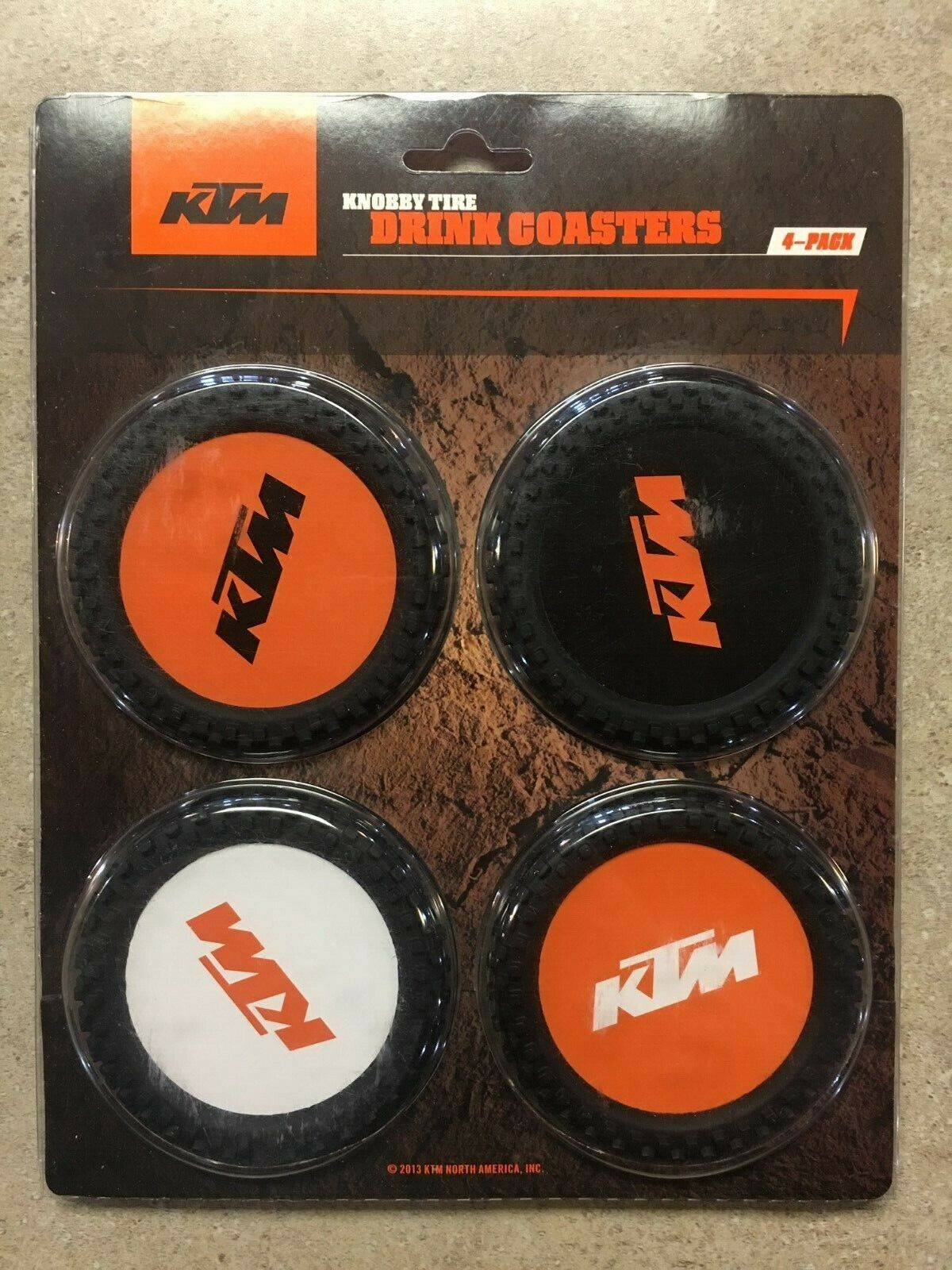 DRINK COASTERS KNOBBY TIRE 4//PK