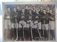 1911 YALE HOCKEY TEAM ENLARGED 16 X 20 PHOTO, NEW HAVEN, CONNECTICUT