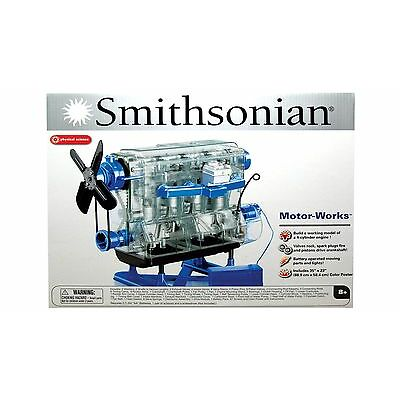 Smithsonian MotorWorks Toy Engine Assembly Kit 4-Cylinder Engine