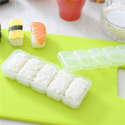 Japan Nigiri Sushi Mold Rice Ball 5 Rolls Maker Non Stick Press Bento Tools ^ RU