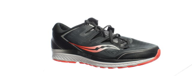 Saucony Mens Guide Iso 2 Black | Grey Running Shoes Size 13 (Wide) (1445380)