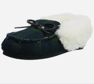 Polo-Ralph-Lauren-Allister-Boy-Toddler-Plaid-Warm-Slippers-Sz-11-BNWT-RARE-GIFT