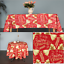 miniature 13 - Rectangle Rond Noël Rouge Nappe polyester Table Nappe Festive Motif