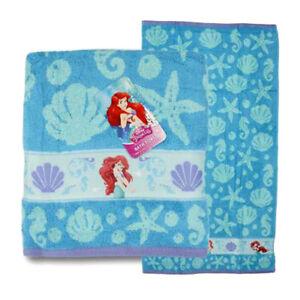 Disney-Little-Mermaid-Ariel-Seashells-Cotton-Bath-Beach-Pool-Towel-28-034-x50-034-NWT