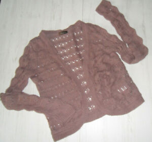 Beautiful Ladies Cardigan Size 34 By Aniston Purple Large Make-show Original Title Agreeable To Taste