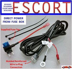 image is loading escort-redline-radar-detector-direct-power-cord-from-
