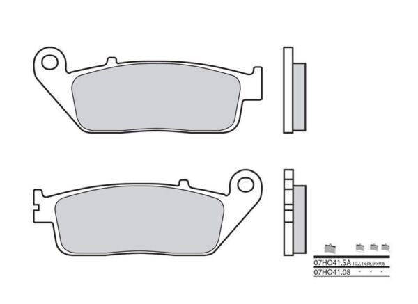 Honda Cbr650f - Kit Plaquettes De Frein Avant - Brembo - 38800253 Voorzichtige Berekening En Strikte Budgettering