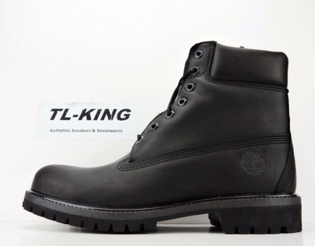 Timberland Men\u0027s 6 Inch Premium WP Black Boot 10.5 Men US