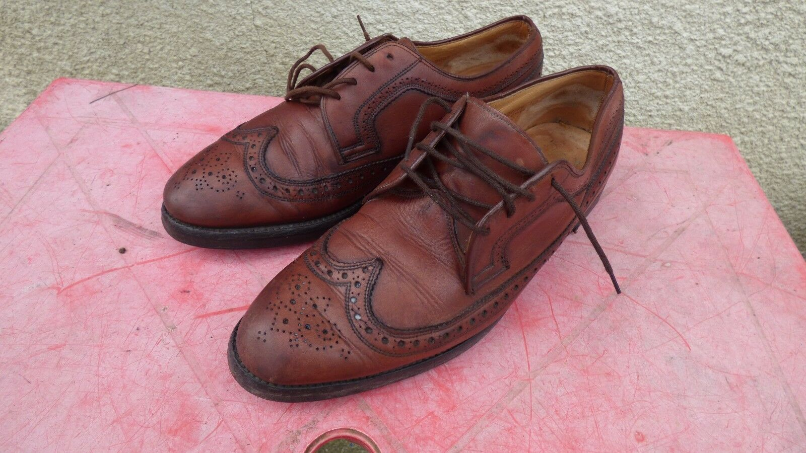 shoes Chapman & Moore brown leather style Richelieu 10.5 brown