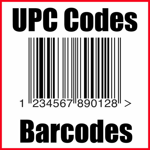 (50) UPC Codes Amazon Barcode Number Certified