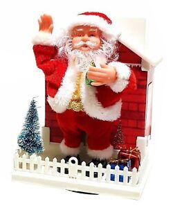 Weihnachtsmann Nikolaus Haus Weihnachten Weihnachtsdekoration Deko LED Licht NEU
