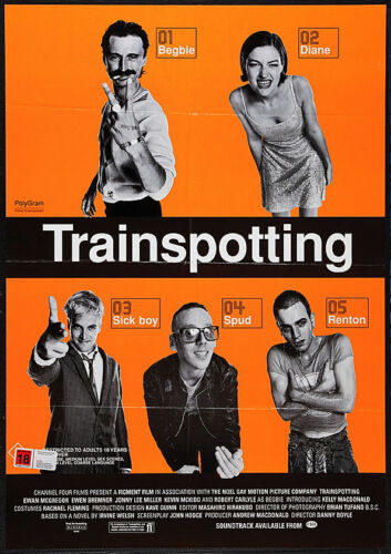 Trainspotting Poster Classic Movie A4 260gsm