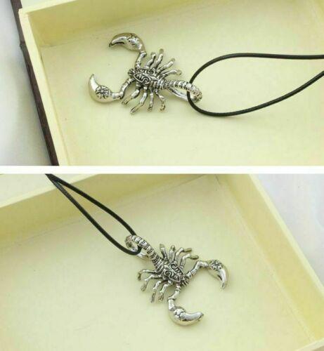 Escorpión Colgante Collar de titanio de Acero Hombres Gimnasio pendantchain Collar B005 Reino Unido
