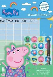 Peppa-Pig-Wipe-Clean-Children-039-s-Reward-Charts-with-Stickers-amp-Pen