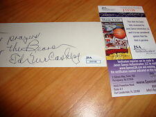 ED McCASKEY  AUTOGRAPH EXTREMELY RARE CHICAGO BEARS  JSA  CERTIFIED