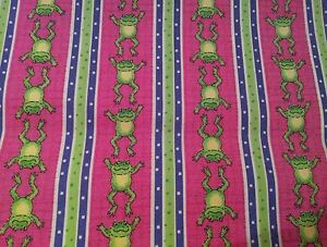 LINED-VALANCE-42X12-WHIMSICAL-JUMPING-LEAPING-FROG-LILY-PADS-POLKA-DOTS-STRIPE