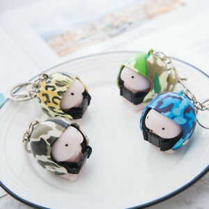 Cute-Squishy-Ding-Ding-With-Helmet-Keychain-Novelty-adults-anti-stress-Toy