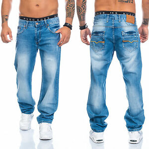 Herren-Jeans-Designer-Clubwear-Vintage-Destroyed-Taschen-W29-W44-RC-2009