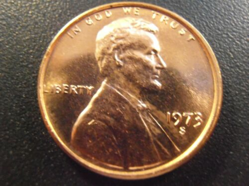 1973 S Lincoln Cent FREE SHIPPING Bright RED coin BU
