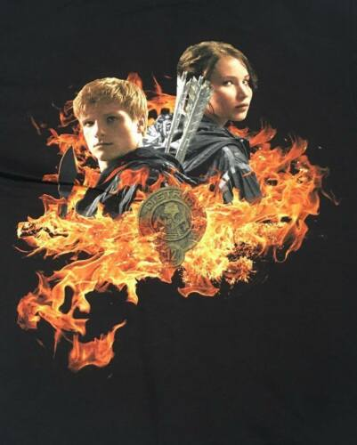 The Hunger Games Catching Fire Black Zip Up Hoodie Show Movie Licensed NEW