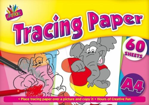 2 x 60 Sheets Art Tracing Paper Kids Art Colourind Drawing Copy School Pad