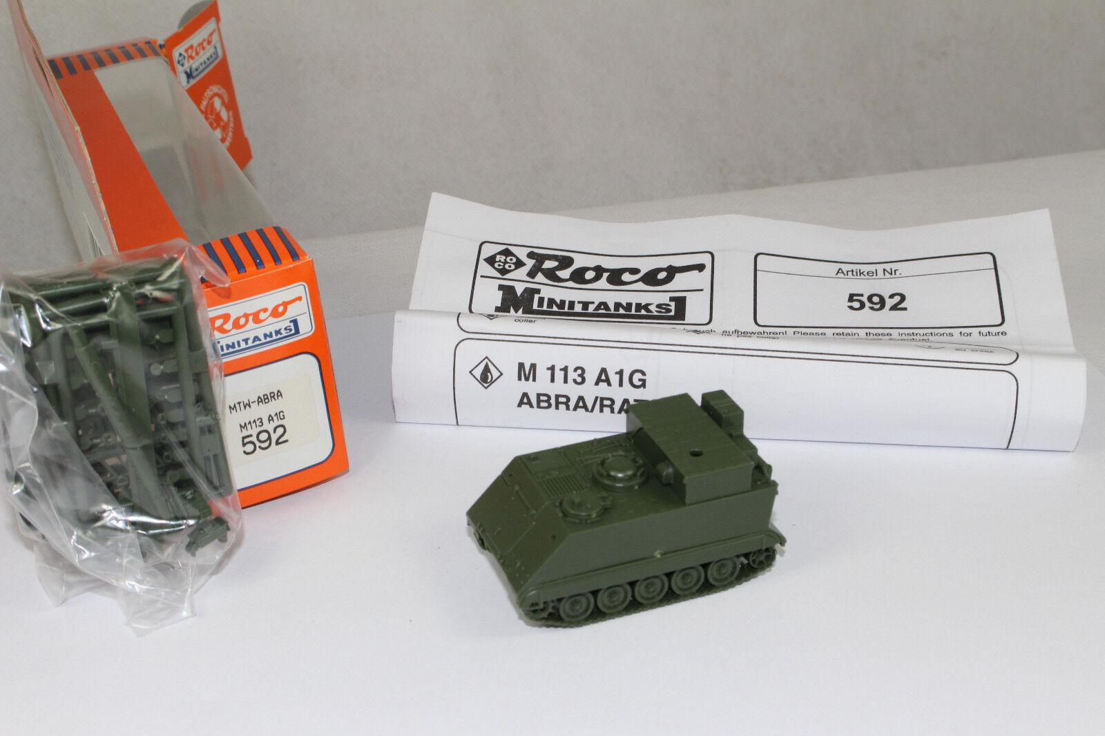 Ro1146, RocoMinitanks 592 M113 A1G A1G A1G ABRA radar artillery vehi. BOX mint 1 87 HO 7a7645
