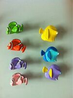Disney Finding Nemo Fish Knobs Fish Kitchen Dresser Ceramic 7 Knob Set