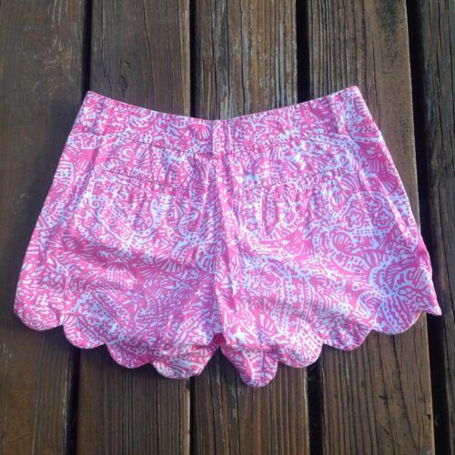 Pantaloncini con orlo 0 Crackin Pulitzer Get piccolo Pink ranuncolo smerlato Lilly Sz Extra Xs MKqFBRycR