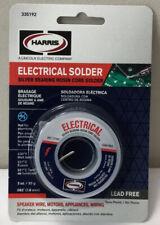 New Harris Electrical Solder Silver Bearing Rosin Core 3oz 335192 Lead Free