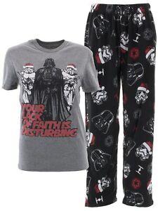 Star-Wars-Men-039-s-Darth-Vader-Christmas-Gray-Pajamas