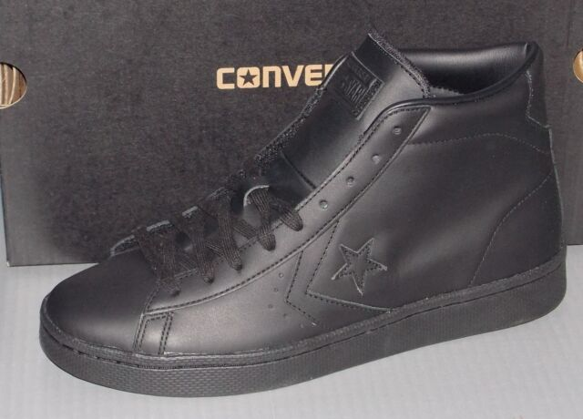 Converse PL 76 Mid All Star Leather Mens Shoes 155334C 10 Black for ... 1d4480640