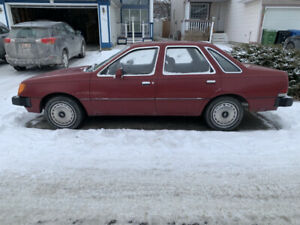 1984 Ford Tempo- 4 door (under 80,000 km)