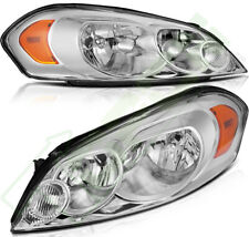 Headlights For Chevy Impala 2006 2013 Chrome Housing Headlamps Replacement Pair Fits 2006 Impala